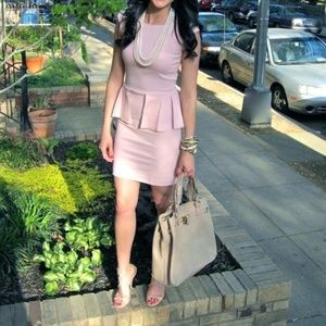 Zara Blush Pink Peplum Dress